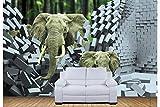 Papel Pintado Pared Dormitorio Fotomurales Decorativos Pared Tapiz De Pared 3D Elefantes Personalidad Fondo Pared Papel Pintado Cuadros Habitacion Bebe Posters Mural Pared