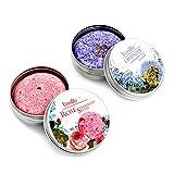 Ucradle Champu Solido, 100% Champú Vegano Hair Shampoo Bar Varias Plantas Essence Hand Shampoo Bar, Apto para todo tipo de cabello (Rosa + lavanda)