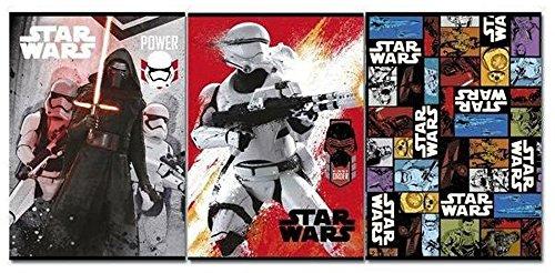 Star Wars Cahier quadrillé pour classes de CM1 et CM2 – Produit officiel