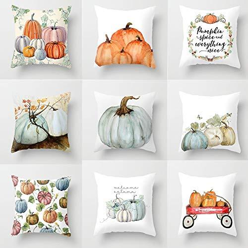 Halloween Pumpkin Series Decorative Cushion Cover Pillow Pillowcase Polyester 45 * 45 Throw Pillow Home Decor Pillowcover (Random Pattern)