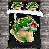 ZCMZMP Super Mario Brothers - Juego de funda de edredón y funda de almohada (200 x 200 cm + 50 x 75 cm x 2)