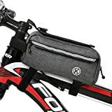 MOOCi Bicycle Mobile Phone Bag Front Frame Bag Detachable Touch Screen Bicycle Accessories Bag Handlebar Bag Suitable for Phones Below 6.4'