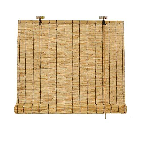 HJRD Roller Blind Persianas, Enrollables de Bambú, Persianas de Caña, Cortinas Opacas, Persianas de Decoración para Exteriores,Patio y Puerta(50x150cm/20x59in1pc)