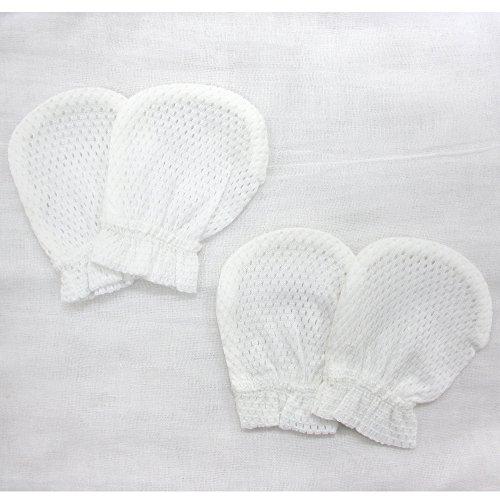 川端縫製『日本製 綿100%のメッシュ ベビーミトン2組セット』