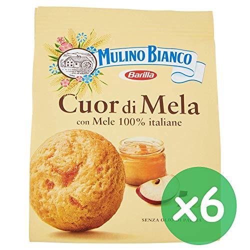 6x Mulino Bianco Kekse Cuor mela 300g biscuits cookies Apfel kuchen Butterkekse