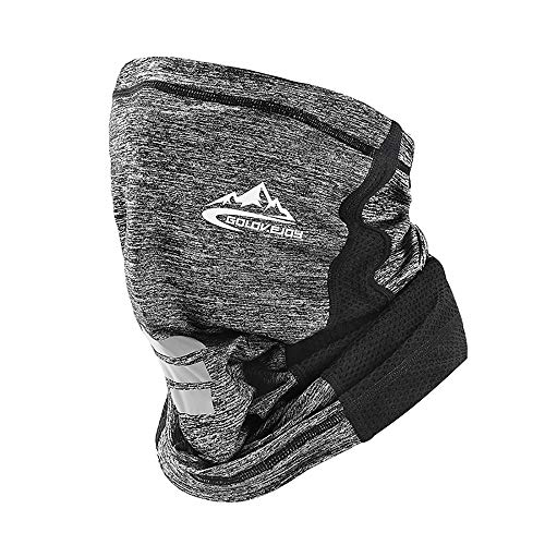 【2020 New Version Cool】 Sun UV Protection Face Mask,Headband Bandana - Outdoors Scarf Balaclavas, Multifunctional Headwear,Neck Gaiter Scarf,for Motorcycle Riding and Running,Yoga Grey
