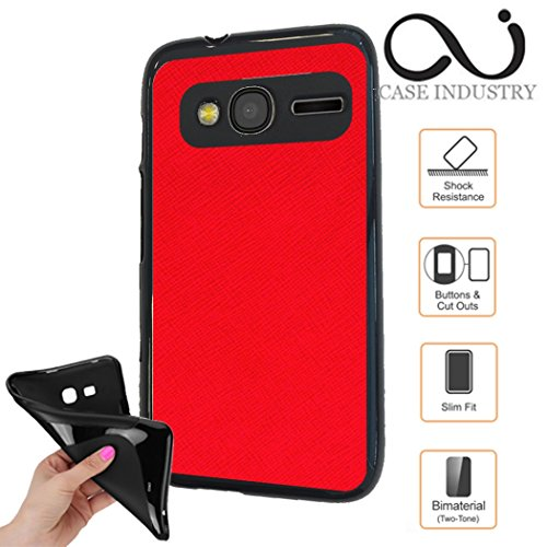 Alcatel Pixi 4 (4.0) - Rouge du courage Collection Exception Skin- Kunstleder Case Lederoptik Case...