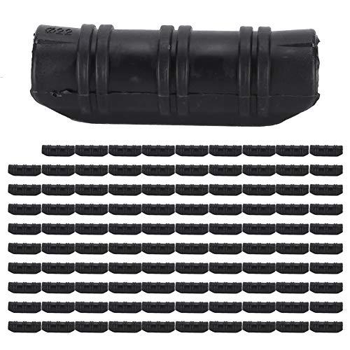 Cikonielf 100 Piezas Clip de película de Invernadero Clip de Tubo de Edificios de jardín Kit de Conector de Abrazadera de Clip de Tubo de Marco de Invernadero(22-Negro)