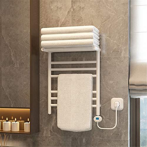 MiSide Wandheizkörper Elektrischer Handtuchwärmer mit Thermostat Badezimmer Handtuchheizkörper Elektrisch Handtuchtrockner Badheizkörper 50x40cm,White-A
