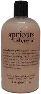 Philosophy Apricots & Cream 3 in 1 Shower Gel, Bubble Bath & Shampoo, 16 oz