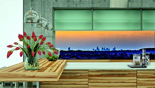 KÜCHENRÜCKWAND 260cm x 70cm Folie selbstklebend Skyline City KFS70