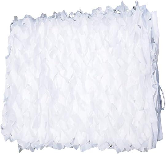 Chunlan Filet De Camouflage Blanc Tissu Oxford Camping Camouflage Décoration Thème en Plein Air Patio Filet D'ombrage Couvercle Anti-poussière (Taille   8X8m)