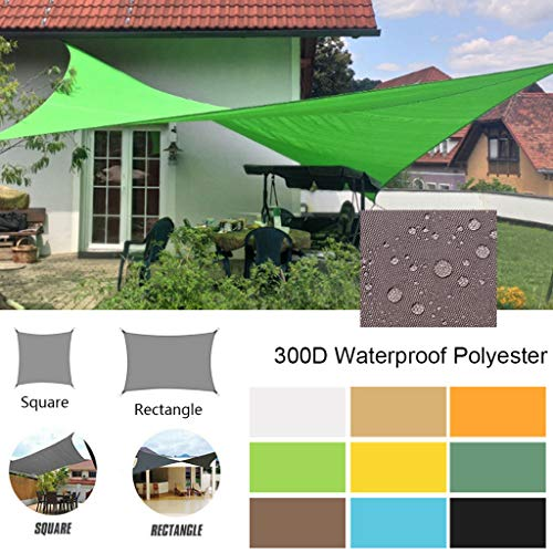 ForgetMe Sun Shade Sail 2m x 3m Rectangle, Waterproof Awning 95% UV Block Sunscreen Canopy for Outdoor Patio Garden Lawn Pergola Decking, Garden Sun Shade Sail Canopy with Free Ropes