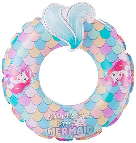 Disney Prinzessin Disney Ariel Outdoor Aufblasbarer Schwimmring, Pool Schwimmer, Wasser Spaß Sommer Strand Spielzeug für Kinder, Mehrfarbig