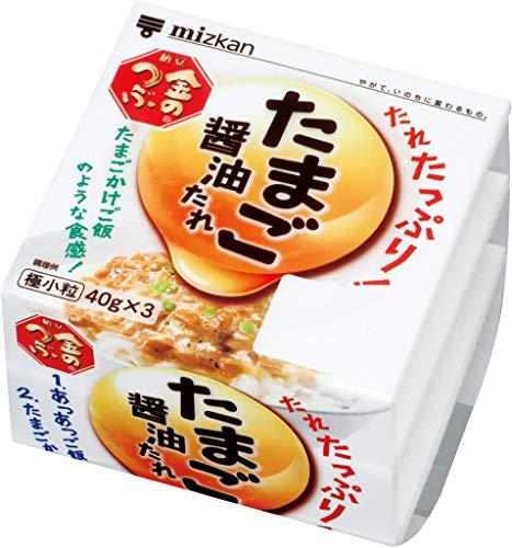 【要冷蔵】ミツカン 金のつぶ たれたっぷり!たまご醤油たれ3P (40gX3)X12パック