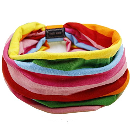 Apanphy® Yoga Sport Haar Band Schal Stirnband Color Stripe