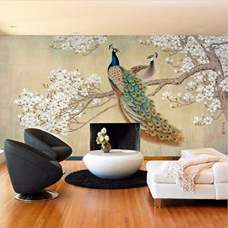 Svsnm Wandbilder 3D Pfau Fototapeten Fototapeten Fototapeten Wohnzimmer Home Decor 3D Papiere Landschaft-220cm(W) x140cm(H) B07MQW6W5V b762b5