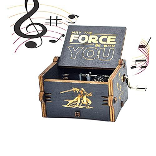 Hand-Wooden Music Box Juego Tronos Caja música Madera Tallada Antigua Cajas...