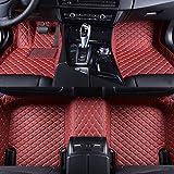 Super1Six Alfombrillas Antideslizantes para El Automóvil Cuero Personalizado, Apto para BM-W I8 2014-2019 Cobertura Completa para Todas Las Estaciones Car Foot Carpet Cove,Red Wine