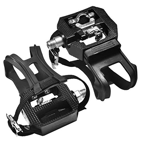 BOKIE Exercise Bike Pedals Commercial Spinning Bike Pedals Mountain Foot Pedal Gym Accessories Perfect for Indoor Cycling