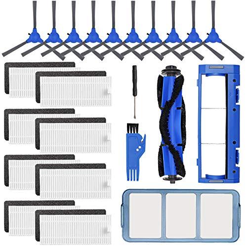 Ersatzteil-Zubehör-Set für Eufy RoboVac 11S, RoboVac 15C, RoboVac 30, RoboVac 30C, RoboVac 12, RoboVac 35C – Staubsaugerfilter, 10 Seitenbürsten, 8 Filter, 1 Vorfilter, 1 Rollenbürstenschutz