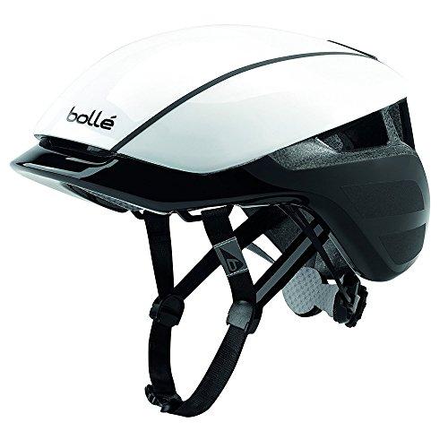 bollé Erwachsene Messenger Premium Cycling Helmets, White/Black, 58-62 cm