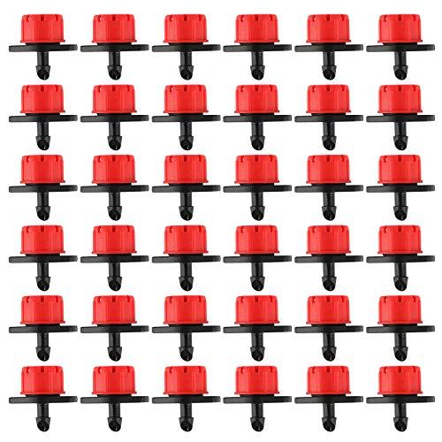 VINFUTUR 150pcs Goteros Riego Ajustables Accesorios Goteo Cabezas de 8 Agujeros Aspersores para Goteo Sistema Irrigación Jardín Huerto Patio Césped