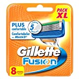 Gillette Fusion Cuchillas de Afeitar para Hombre - 8 unidades