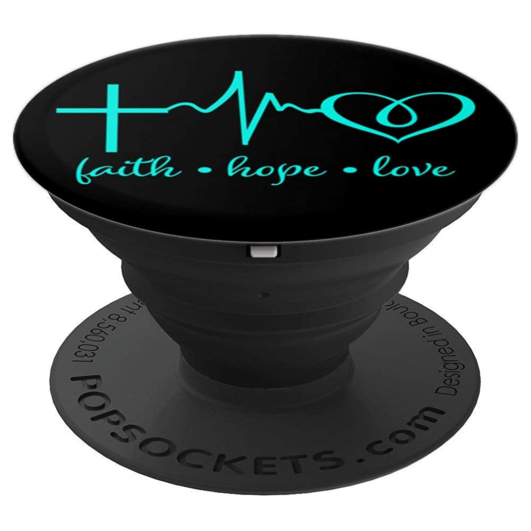 Faith Hope and Love Christian Girl Woman Man Gift - PopSockets Grip and Stand for Phones and Tablets