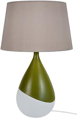 Tosel 64525 Kalamaria, Céramique/Coton, Vert/Taupe, 500 x 800 mm