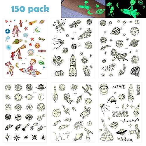 a ray of sunshine 100 Kindertattoos,Weltraum temporäre Tattoos Aufkleber,Dunkeln Leuchten Tattoos,Weltraum Tattoos Aufkleber,Kindertattoos Set im Dunkeln leuchten