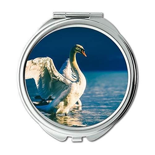 Yanteng Spiegel, Travel Mirror, Tier Strand schön, Taschenspiegel, tragbarer Spiegel