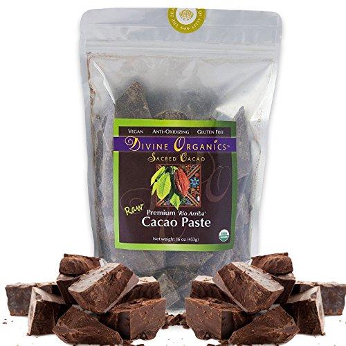Divine Organics Raw Organic Cacao Paste / Liquor, 16 Oz Cocoa Paste