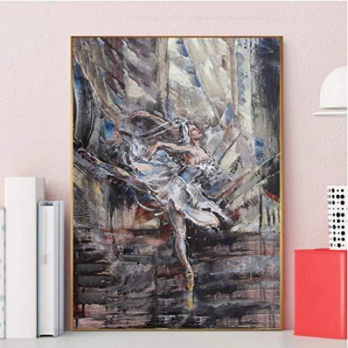 CAPTIVATE HEART Arte de la Pared de la Lona 40x60cm sin Marco Mujeres Ballet Arte Abstracto de la Pared Cuadros de la Pared para la decoración de la Sala de Estar Decoración del hogar