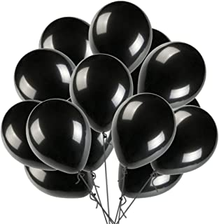 "12"" Black Balloon Latex Helium Balloons Pearl Balloon for Wedding Birthday Party Festival Christmas Decorations 100 ct"