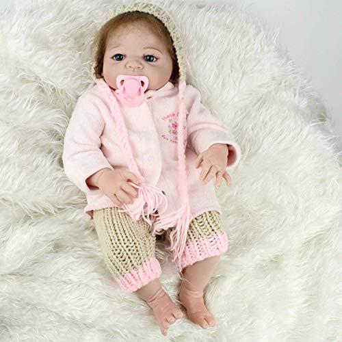 H.aetn 20 Pulgadas tamaño Real de bebé de Silicona de Vinilo de Cuerpo Completo Reborn Baby Girl...