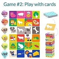 Nene Toys - Torre Magica Colorata in Legno con Animali – Gioco Educativo da Tavolo per Bambini - Gioco Didattico 4 in 1 per Bambini da 3 a 9 anni – Giocattolo Ideale come Regalo per Genitori e Figli #3