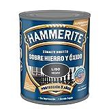 Hammerite Esmalte directo sobre hierro y óxido Liso Brillante Negro 250 ml