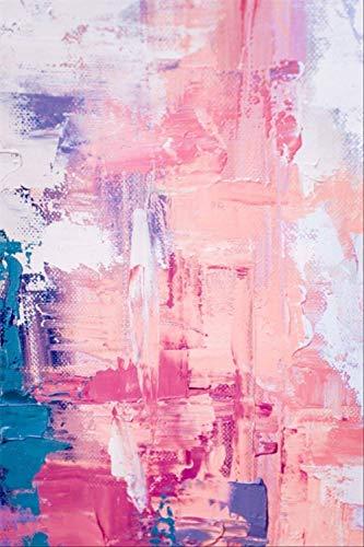 Zenhe fácil de limpiar Manta de área de suave cubierta Mat Alfombra moderna del extracto del arte Pintura Acuarela rosada Habitación Sala Cocina de noche Alfombra Alfombra de piso puerta de la estera