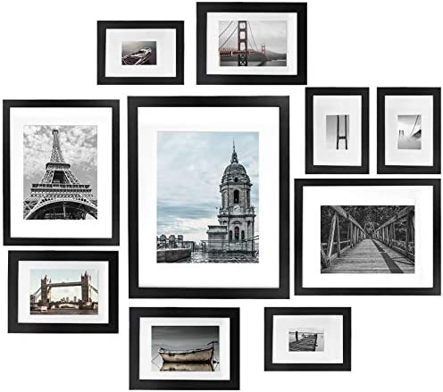 Vsadey Picture Frames Set of 10 11x14 8x10 5x7 4x6 Inch Photo Frame Black Collage Picture Frames product image