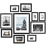 Vsadey Picture Frames Set of 10, 11x14/8x10/5x7/4x6 Inch Photo Frame, Black Collage Picture Frames Kit for Home, Gallery and Office Wall & Table Top Decoration