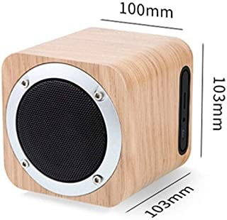 YANTING MX05 Wooden Speaker, Multimedia Audio Speaker, Computer Speaker - Brown (Color : Beige)