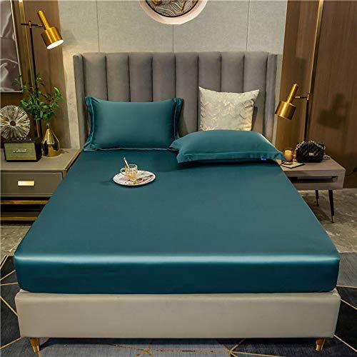 haiba Sábana bajera ajustable de algodón para el hogar y funda de cama plana de color sólido ropa de cama banda elástica suave dormitorio boda |sábana 90 x 200 cm