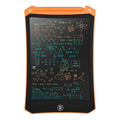 LCD Writing Tablet, Electronic Digital Writing &Colorful Screen Doodle Board, cimetech 8.5-Inch Handwriting Paper Drawing Tablet Gift for Kids and Adults at Home,School and Office (Orange)