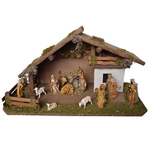 Alfred kolf kerststal 1330/13 kerststal van hout voor 13-15 cm figuren 59 x 30 x 34 cm