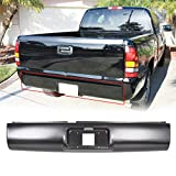Rear Roll Pan Bumper With Light License Plate Compatible With 1994-2003 S10 S15 Sonoma GMC Pickup Fleetside Steel