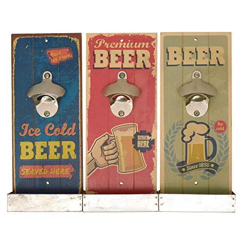 Retro Beer Flaschenöffner mit Auffangbehälter - Vintage Beer Bieröffner Kapselheber Retro Bier