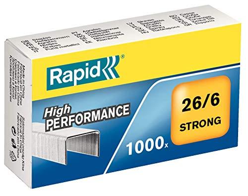 Rapid Heftklammern (26/6 mm, Strong, verzinkt) 1000 Stück