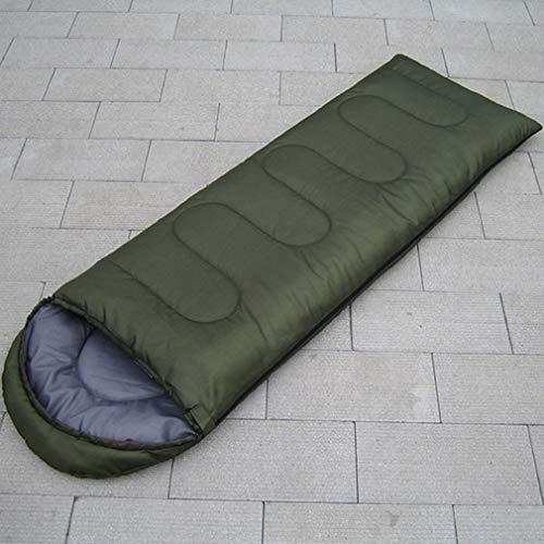 Générique Sac de Couchage Portable Ultra léger et imperméable avec Bonnet Nemo (Couleur : Vert)