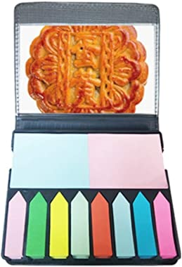 Egg Yolk Moon Cake Mid-Autumn Festival Self Stick Note Color Page Marker Box